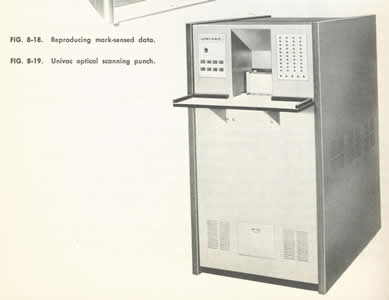 A photograph of a Univac optical scanning punch.